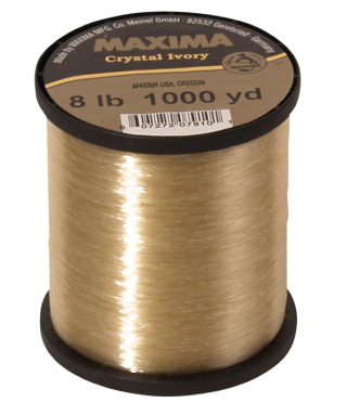 Maxima Crystal Ivory Monofilament Guide Spools