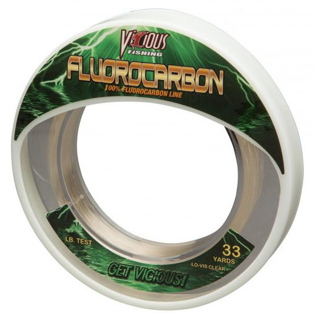 VICIOUS PRO ELITE FLUOROCARBON FISHING LINE 33 YARDS