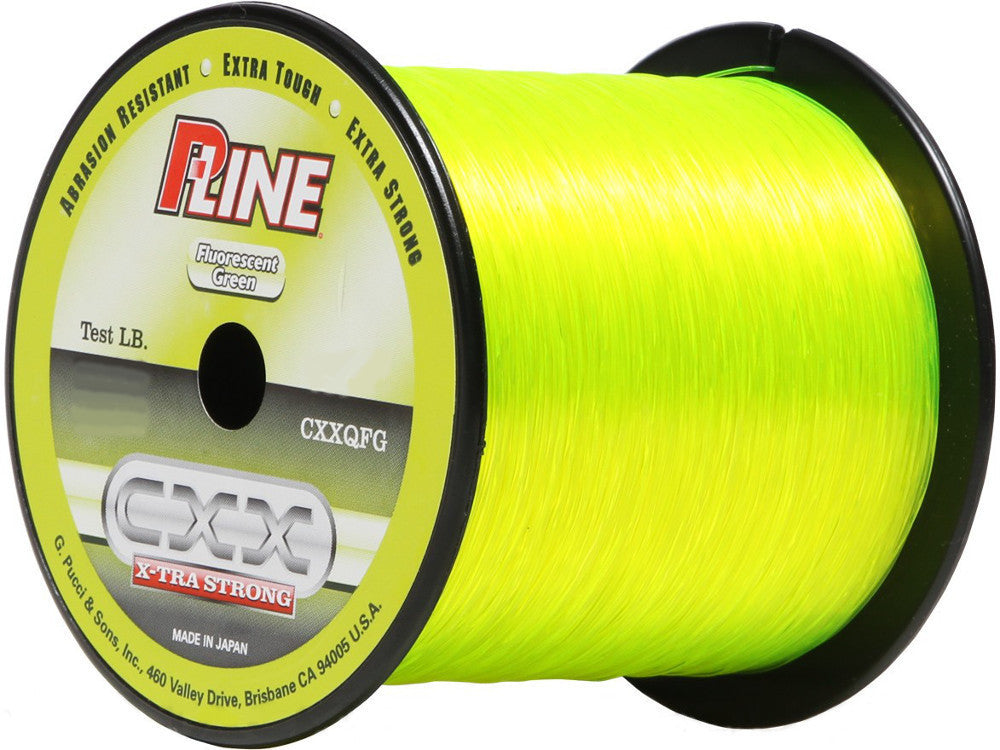 P-LINE CXX FLUORESCENT GREEN X-TRA STRONG FISHING LINE