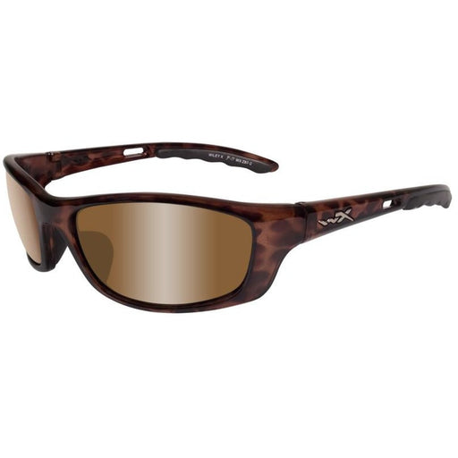 Silver Flash Bronze Lens - Brown Gloss Demi Frame