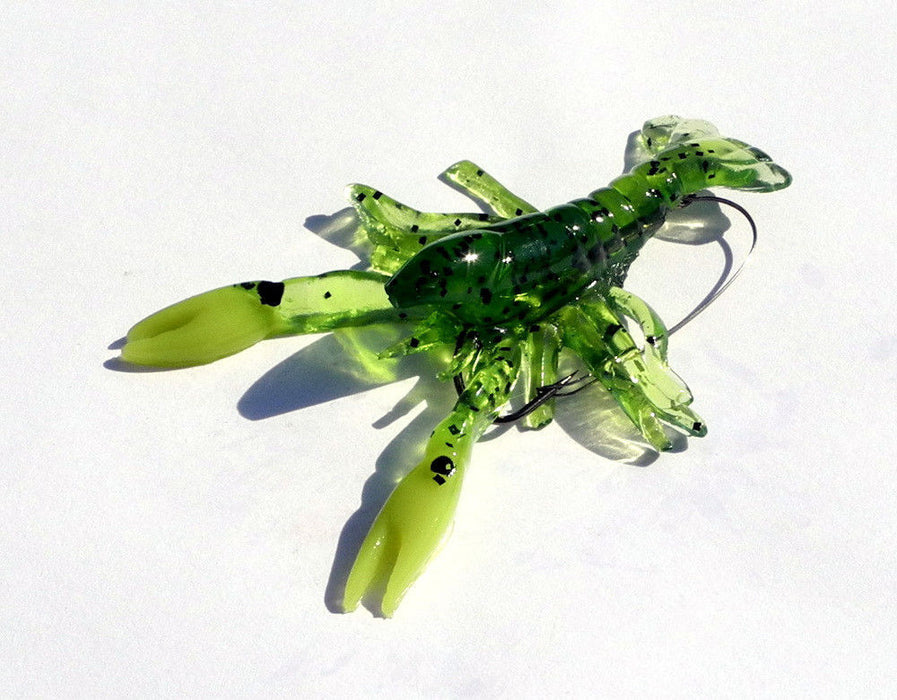 Apex Pre-Rigged Weedless Shimmer Craw 3 1/4 inch Soft Plastic Craw 1 pack