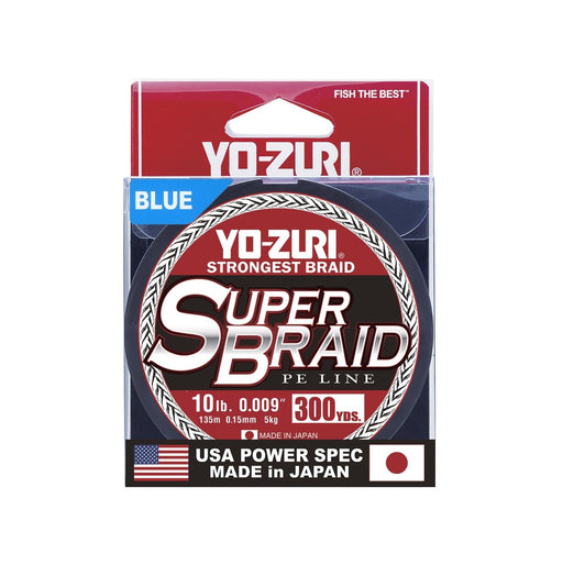 Yo-Zuri Superbraid Blue 300 Yards Superbraid Fishing Line