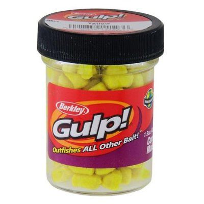 Berkley Gulp! 1/4 Inch Corn Yellow 1.5 Oz Jar