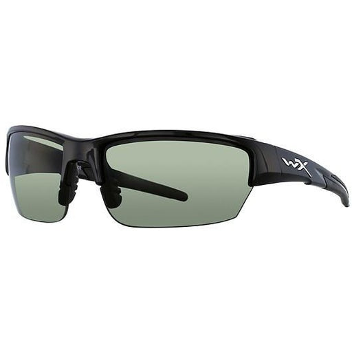 Smoke Green Lens - Gloss Black Frame