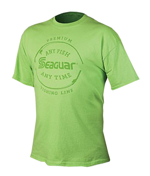 "Seaguar ""Any Fish Any Time"" Short Sleeve Lime T-Shirt"