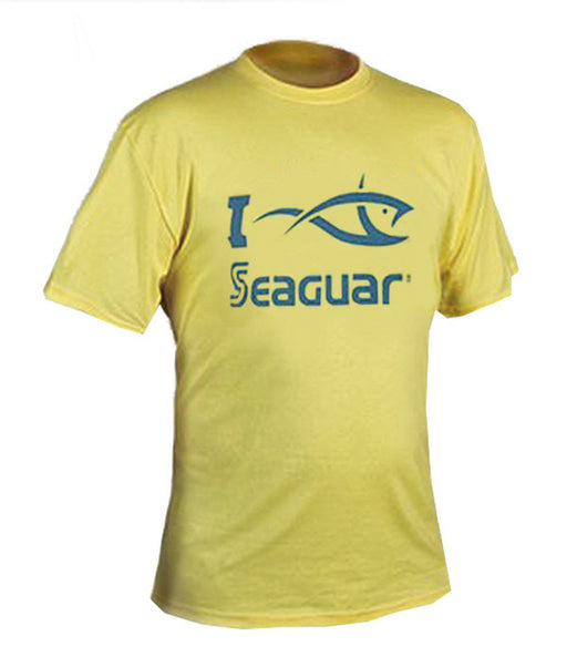 "Seaguar ""I Fish Seaguar"" Short Sleeve Yellow T-Shirt"
