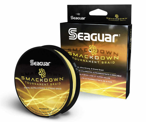 Seaguar Smackdown Braided Fishing Line Yellow 150 Yards
