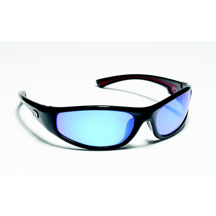 SG-SKP03 Shiny Black Frame Blue Mirror Lens