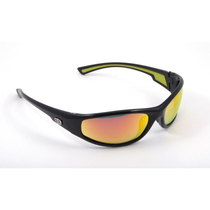 SG-SKP20 Shiny Black Frame Orange Mirror Lens