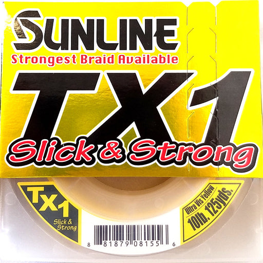 Sunline Tx1 Braided Line Ultra Vis Yellow 125Yd