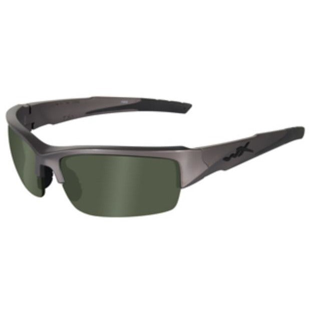 Smoke Green Lens - Metallic Silver Frame