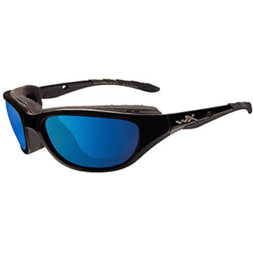 Blue Mirror Lens - Gloss Black Frame