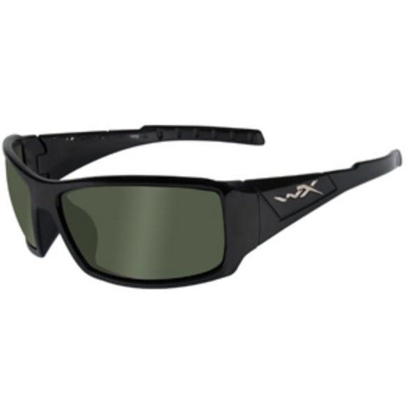 Green Lens - Gloss Black Frame