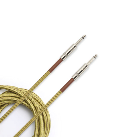 D'Addario Custom Braided Guitar Cable TWEED
