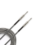 D'Addario Custom Braided Guitar Cable BLACK / GREY