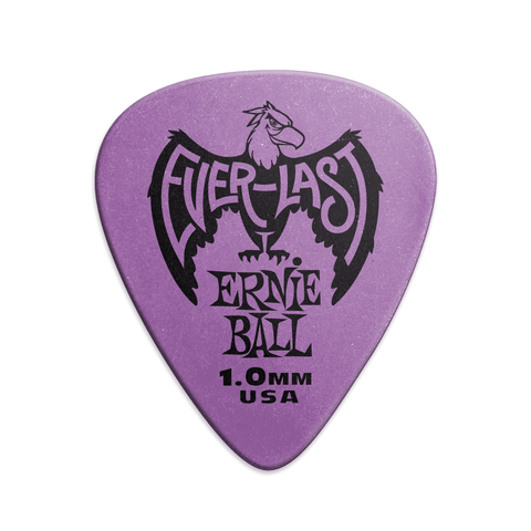 Ernie Ball Everlast 1.0mm Guitar Picks Purple (Pack of 12)