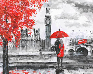 Oil Painting - London Love