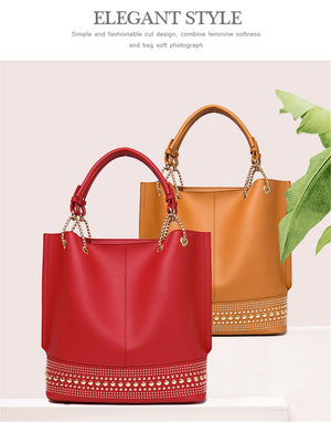 3 Set Ladies Hand Bags High Quality Soft PU Leather Crossbody Bags For Women 2019 Fashion Luxury Handbags Women Bags Designer - BestBagShop