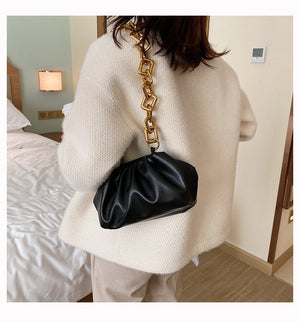EXCELSIOR High Quality PU Leather Women's Crossbody Bag Dumpling Shoulder Bags for Female 2020 INS Stylish Clutch - BestBagShop