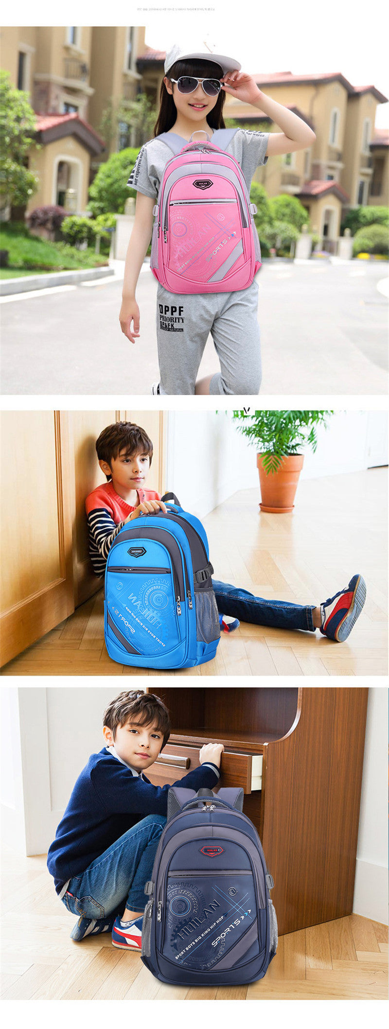 2020 hot new children school bags for teenagers boys girls orthopedic school backpack waterproof satchel kids book bag mochila - BestBagShop