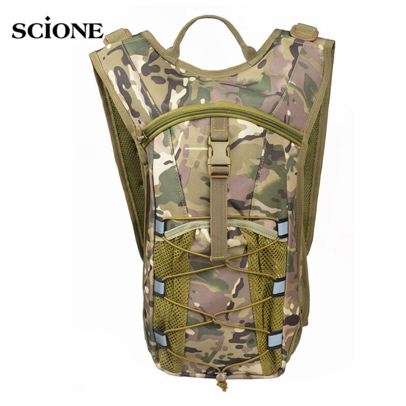 Camouflage Tactical Military Molle Vest Backpack Bicycle with 2.5L Water Bag Oxford Sports Rucksack Cycling Running Bags XA599YL - BestBagShop