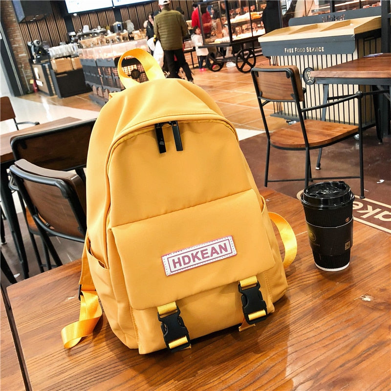 DCIMOR Women Backpack Fashion Button Waterproof Nylon Backpacks Large capacity travel bag School Bags For Teenager Girls Mochila - BestBagShop