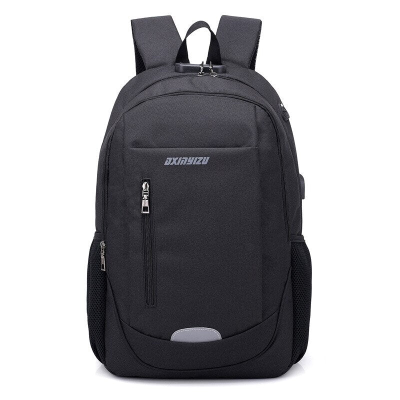 Men Backpack Laptop USB Charging Casual Style Waterproof Bag Men's Anti Thief Multifunction Female Backbag computer backpacks - BestBagShop
