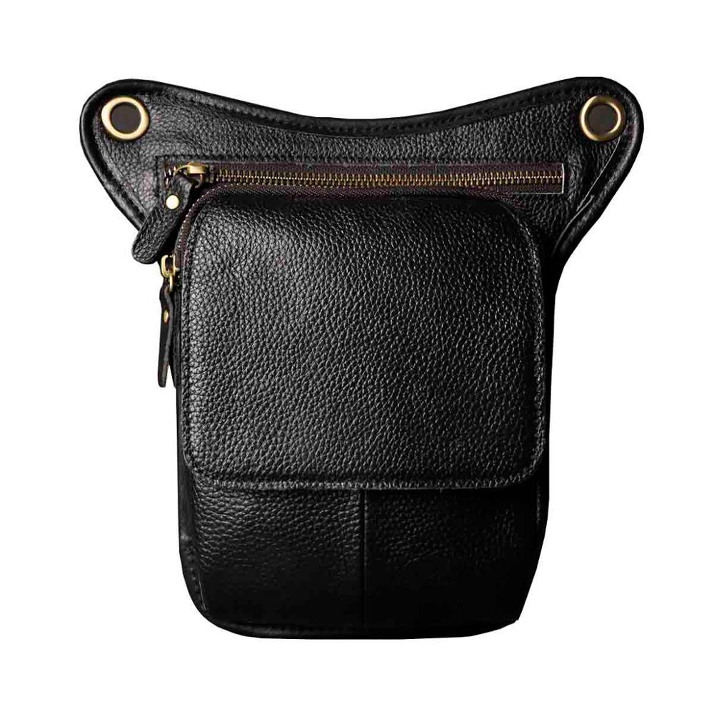 Hot Sale Quality Leather men Fashion Travel Small Shoulder Bag Designer Belt Waist Pack Drop Leg Bag Phone Pouch 211-1bu - BestBagShop