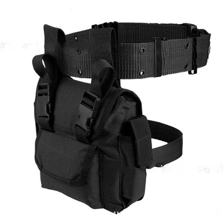 Leg bag women tactical multifunctional Waist Bag Motorcycle Drop Leg Fanny Pack military Belt Phone Pouch Female Shoulder Bag - BestBagShop