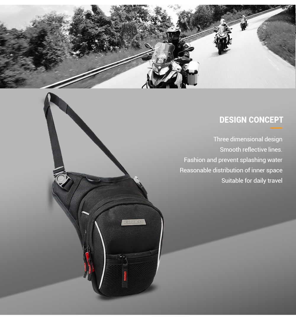 HEROBIKER Motorcycle Bags Waterproof Motorcycle Drop Leg Bag Moto Luggage Bags Outdoor Multifunction Motorbike Waist Bags Black - BestBagShop