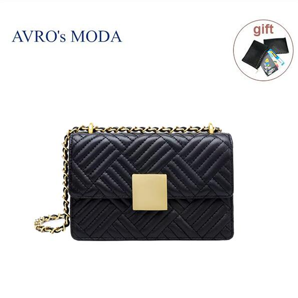 AVRO's MODA Brand genuine leather woman bag shoulder bag  2019 luxury handbag women crossbody bags small square messenger bags - BestBagShop