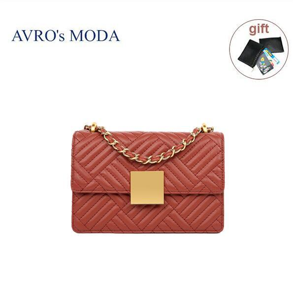 AVRO's MODA Brand genuine leather woman bag shoulder bag  2020 luxury handbag women crossbody bags small square messenger bags - BestBagShop