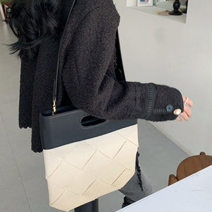 [BXX] 2020 New Autumn Winter Luxury Women's Handbag Designer Weave Clutch Bag Ladies Casual Canvas Tote High Capacity Bags HJ561 - BestBagShop