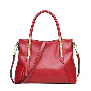 2020 New Women Genuine Leather Handbags Fashion Women's Shoulder Bag Luxury Brand Real Cow Leather Tote Bags for Women - BestBagShop