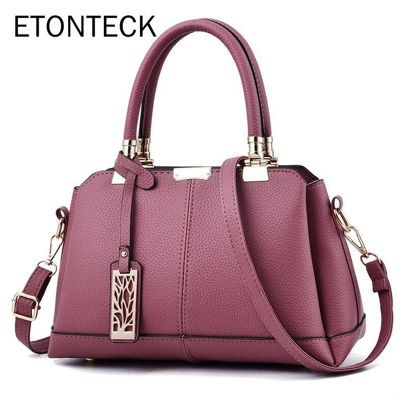 ETONTECK 2020 New Arrival Women Bag Shoulder Bag Casual Tote for Fashion Female Messenger Bags Ladies PU Leather Handbag Purse - BestBagShop