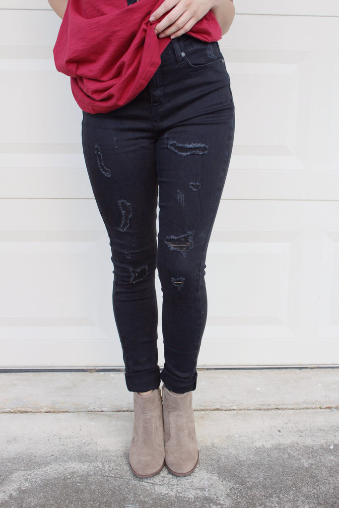 Midnight Distressed Jeans