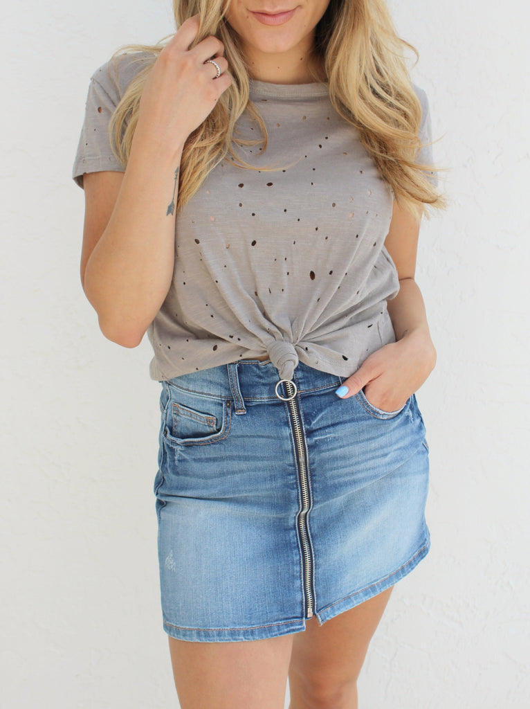 Hayden Distressed Tee
