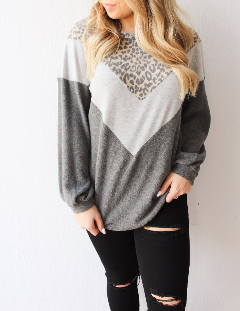 Sadie Leopard Sweater