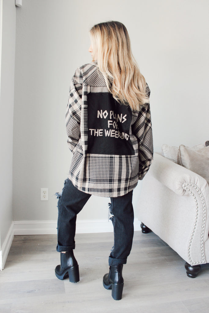 No Weekend Plans Flannel - Kailyn Lowry Collection