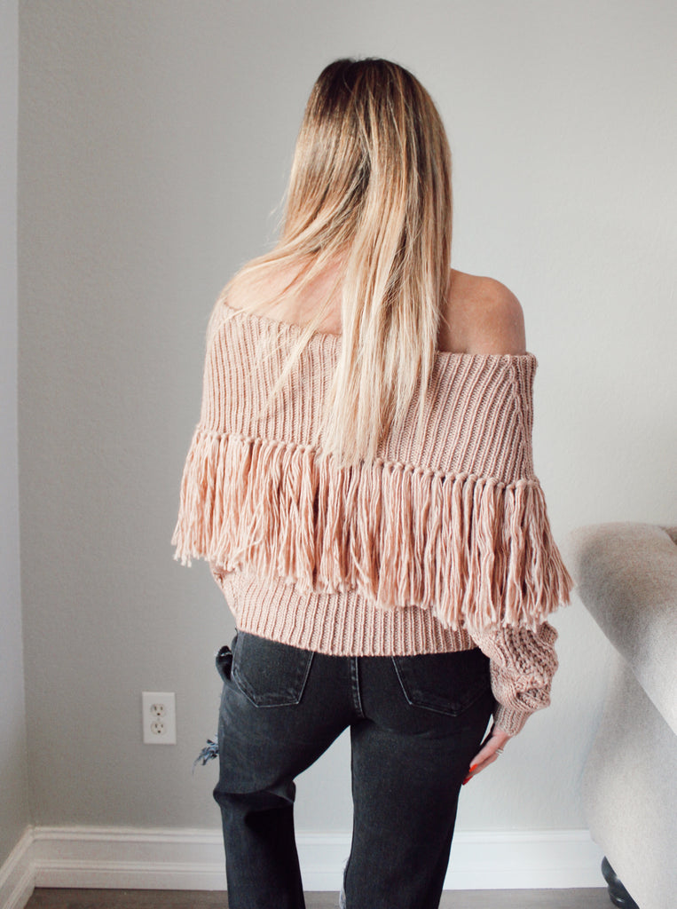 Candace Fringe Sweater
