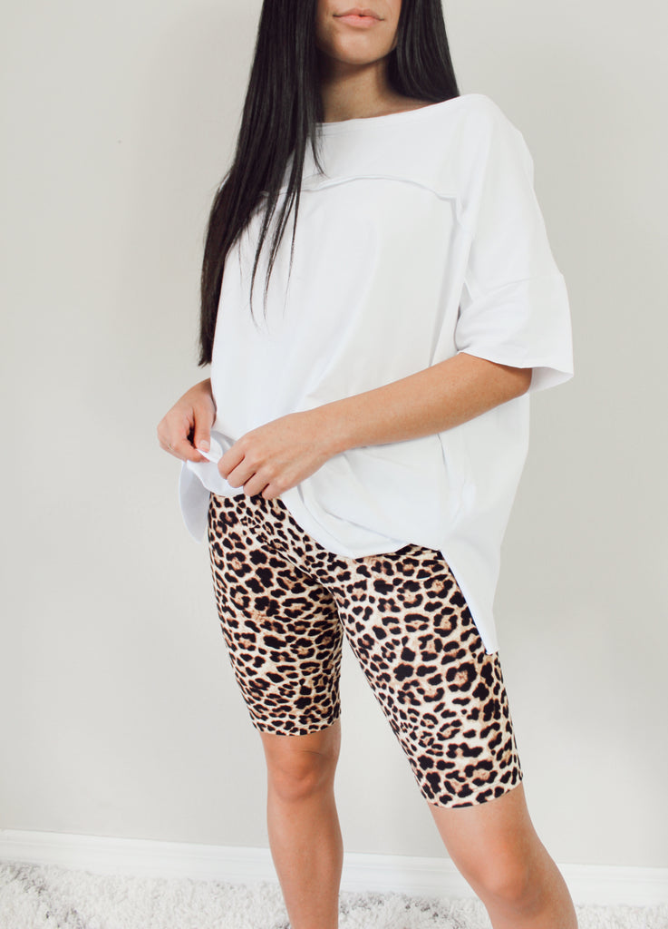 Cheetah Girl Biker Shorts