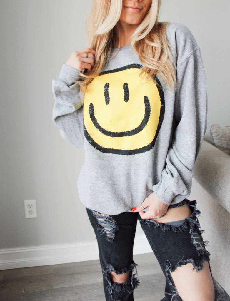 Smiley Face Pullover