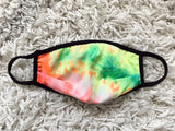Face Mask - TIE DYE LIME MIX