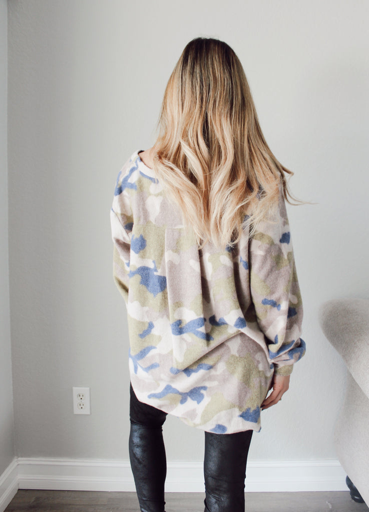Camo Love Sweater