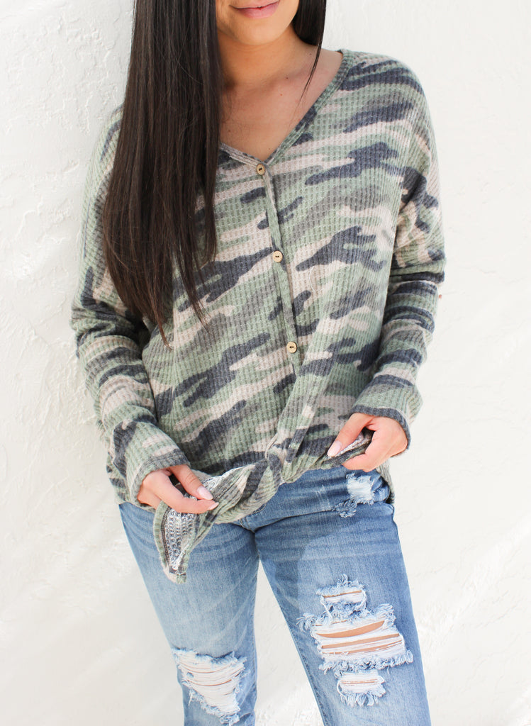 Camo Button Up Thermal