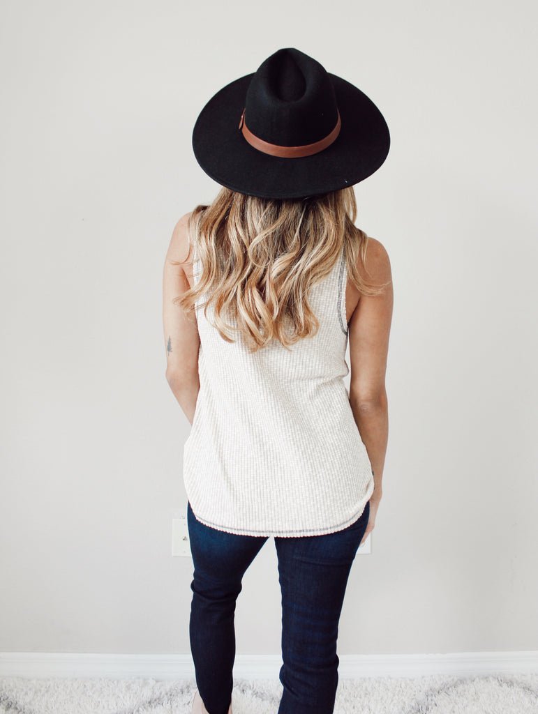 Ashley Knit Tank - TAUPE