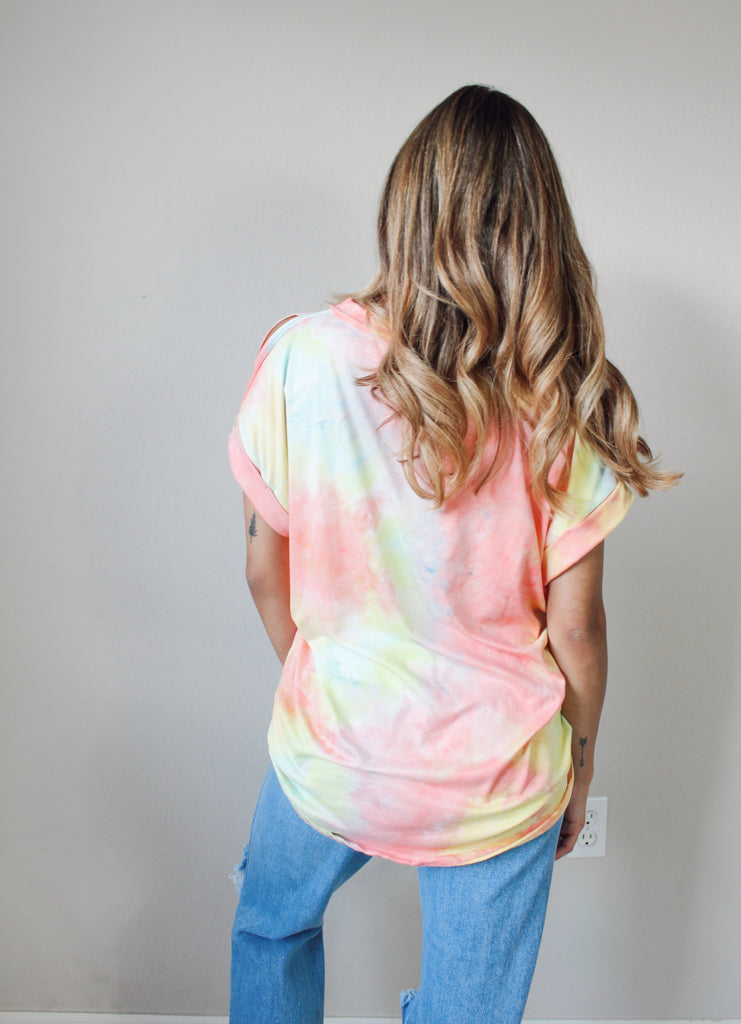 Easy Love Distressed Tee - Pink