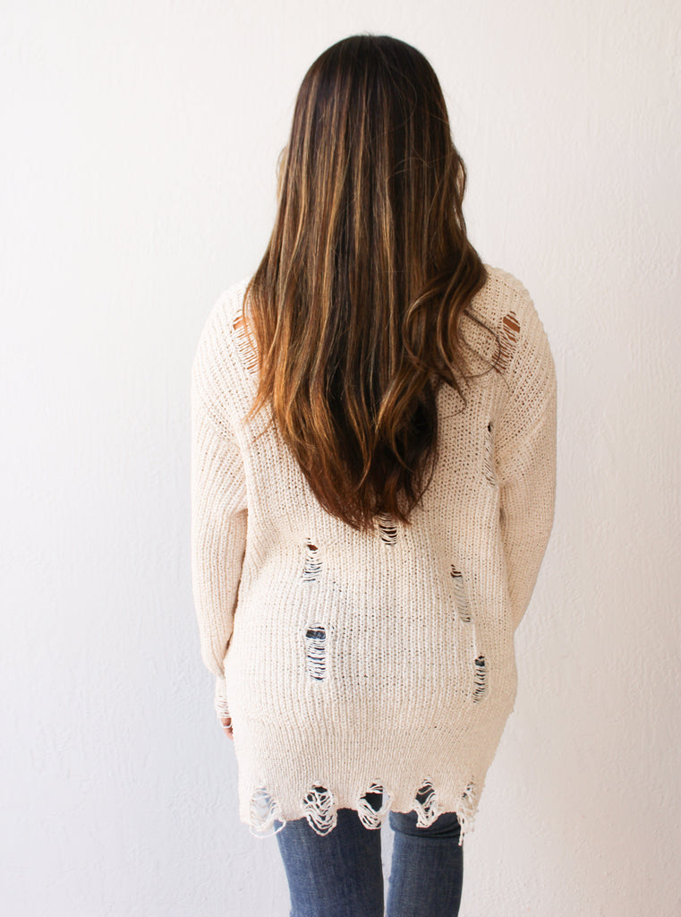 Callie Distressed Sweater