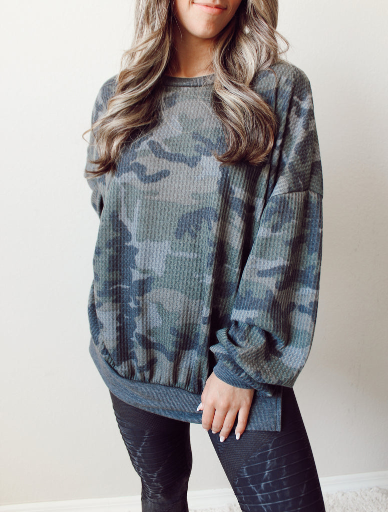 Camo Oversized Thermal