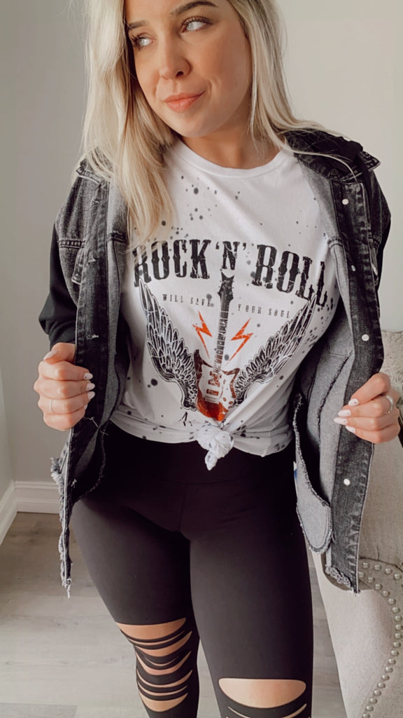 Rock N Roll Tee - Splatter